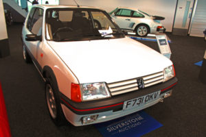 A Peugeot 205 1.9 GTI fetched £38,480 at auction