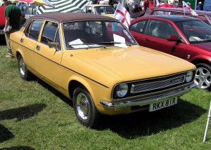 The vinyl roof really sets off this Morris Marina…or not.
