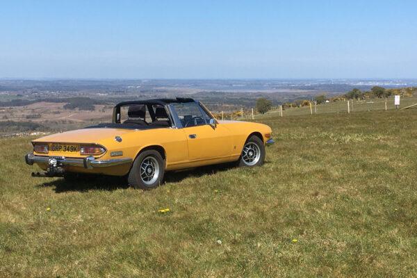 David-Frith---My-Triumph-Stag-–-1972-manual-overdrive-in-Saffron-Yellow.