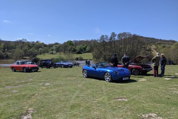 Gavin Beard - My TVR out with a very varied local group