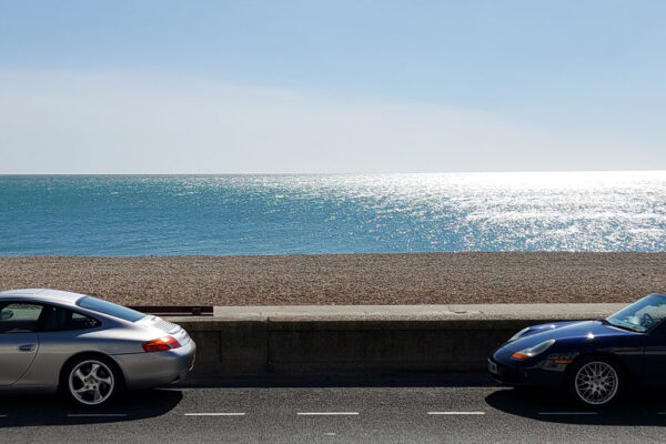 Jason-Gibson---Porsche-enthusiasts-club-at-the-final-destination-of-their-drive.-Seaford-in-Sussex