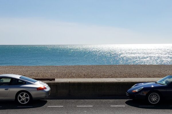Jason Gibson - Porsche enthusiasts club at the final destination of their drive. Seaford in Sussex