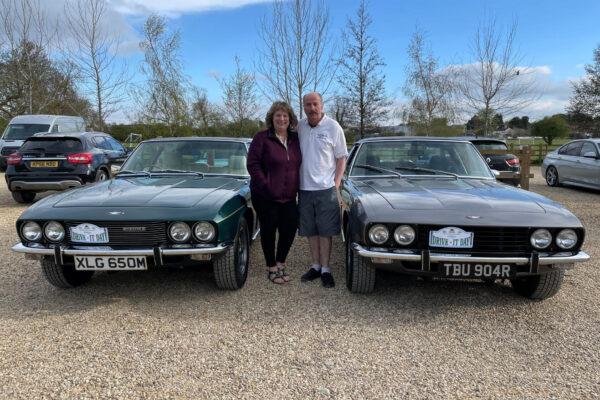 Paul & Tracey Somerscales - Driving their Jensen Interceptor MK3 and Jensen Interceptor Coupe